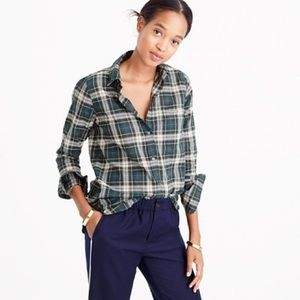 J. Crew Boy Shirt Crinkle Plaid 6